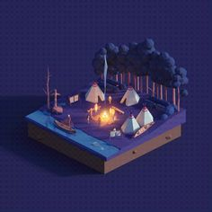 These worlds were created to show the endless possibilities of our Low Poly Ultimate Pack and inspire game developers or artists to create their unique stories using these assets Modelos Low Poly, Modelos 3d, Isometric Art, Isometric Design, Blender Models, Blender 3d, Game Ui Design, 3d Design, Cube World
