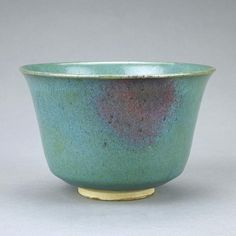 JUN YAO STYLE POTTERY BOWL                          From the Private Collection of Mr. H. Egbert from Beverly Hills, California. Diameter: 4 7/8 in.(12.5cm) x H: 3 1/8 in.(8cm)