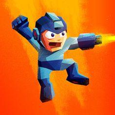 Mega Man & Super Meat Boy byJames White/Tumblr/Store