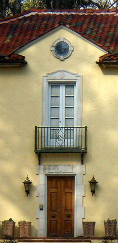 Classic Italianate entrance detail, Buckhead area of Atlanta...
