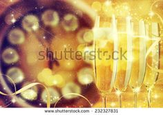 Champagne glasses ready to bring in the New Year. Tree Images, Champagne Glasses, Royalty Free Stock Photos, Pictures, Photography, Champagne Flutes, Fotografie, Photos, Sparkling Wine Glasses