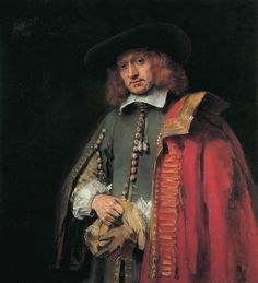 """""""Jan Six"""" - Rembrandt, One of his most exquisite portraits of the period. After Rembrandt used little blue, using moslty browns, ocra and reds. His character is on a threshold: coming or going? Allows Rembrandt to stretch time. Rembrandt Portrait, Rembrandt Paintings, Rembrandt Art, Monet, List Of Paintings, Art Paintings, Tableaux Vivants, Art Occidental, Francisco Goya"""
