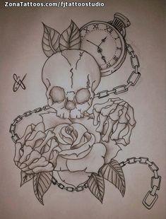 Rose Drawing Tattoo, 3d Art Drawing, Tattoo Design Drawings, Tattoo Sketches, Art Drawings, Evil Skull Tattoo, Skull Rose Tattoos, Body Art Tattoos, Small Anchor Tattoos