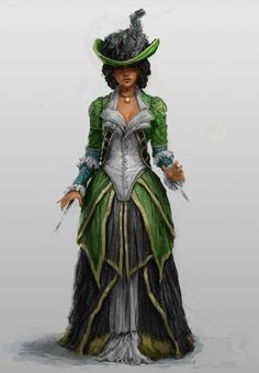 Lady Aveline by B-Dunn (deldatoa) - a very nice design, I'd like to see this made up for real