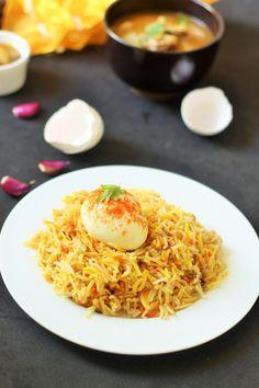 Egg Biryani Recipe-An Amazingly simple Egg Biryani Recipe. If you are bored of eating the routine biryani, try this easy Egg Biryani Recipe