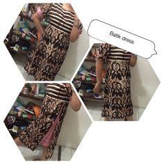 Batik and satin dress