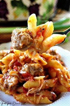#casserole #tomatoes #italian #sausage #comfort #loaded #spices #cheese #family #flavor #whole #great #pasta #enj... Italian Sausage Pasta, Tomatoes, Casserole, Shrimp, Spices, Cheese, Meat, Food, Spice