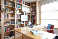 Home office design by Nyla Free Designs, photography by Lori Andrews, construction by Foothills Renovations