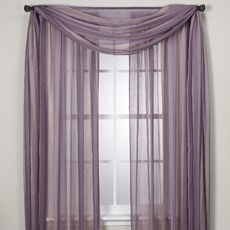Sheer Purple Curtains To Make Canopy Over Bed
