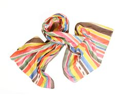 Ice Pop Striped Cotton Stripe Scarf (i think i own this scarf!)