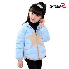 28.20$  Buy now - https://alitems.com/g/1e8d114494b01f4c715516525dc3e8/?i=5&ulp=https%3A%2F%2Fwww.aliexpress.com%2Fitem%2FGirls-Winter-Jackets-2017-New-Fashion-Star-Hooded-Down-Jacket-For-Girl-Long-Sleeve-Warm-Zipper%2F32757269822.html - Girls Winter Jackets 2017 New Fashion Star Hooded Down Jacket For Girl Long Sleeve Warm Zipper Kids Clothes Girls 5551Z 28.20$