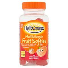 Haliborange Multivitamin Fruit Softies For Kids For 3-12yrs - 30 Strawberry Fruit Shapes - Boots