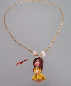 Collana con ciondolo bambolina, by Magicla, 6,00 € su misshobby.com