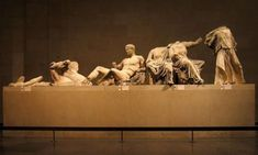Elgin Marbles east pediment - Ancient Greek architecture - Classical figurative sculpture from the eastern pediment of the Parthenon, British Museum British Museum, Elgin Marbles, Parthenon Athens, Arte Latina, Objets Antiques, Ancient Greek Architecture, Classical Architecture, Greek Art, Ancient Artifacts