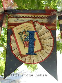 """A Little Stone House: Patriotic """"LIBERTY"""" Banner"""
