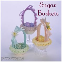 How to make Easter Baskets out of Pressed Sugar!