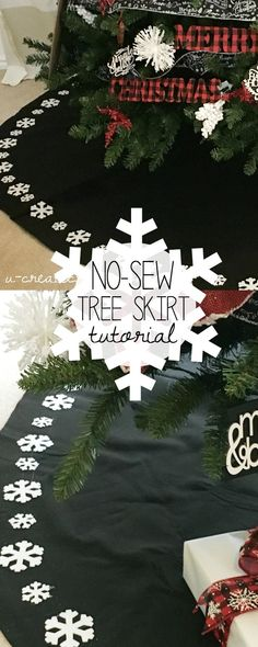 Create this No Sew Tree Skirt Tutorial in no time with a few simple steps at U Create!