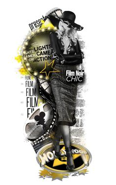 """Film Noir for Wanda"" by duchessbee ❤ liked on Polyvore featuring art"
