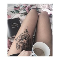 """""""Mi piace"""": 88, commenti: 4 - Cate (@caterina_ghiani) su Instagram: """"just this picture...this tattoo...and of course this girl! Thank you @carinscha #wolftattoo…"""""""