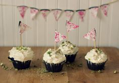 The Vanilla Bean Blog | chocolate olive oil cupcakes with goat cheese frosting and pistachios