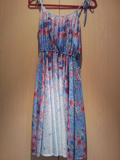 70s blue floral summer dress by Rags2retro, via Flickr