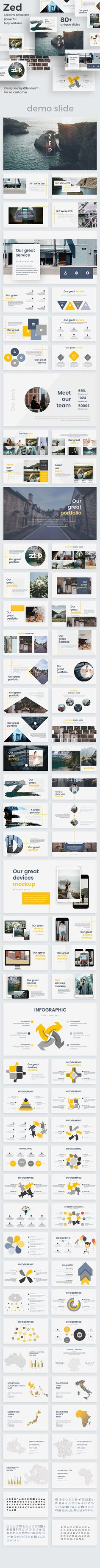 Zed Creative #Powerpoint Template - Creative PowerPoint Templates