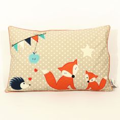 Individualisierbares Kissen für Babys / customisable pillow for babys and kids made by BABY LAL via DaWanda.com