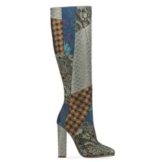 cafd47c5b etro patchwork boot The Zoe Report, Bootie Boots, Heeled Boots, Cool Boots,