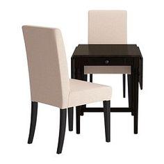 INGATORP / HENRIKSDAL Tafel met 2 stoelen - , Linneryd naturel - IKEA