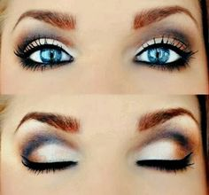 Perfect Eye Shadow Color For Blue Eyes http://perfectmakeupeyes.blogspot.com/2014/01/perfect-eye-shadow-color-for-blue-eyes.html