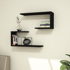 Add depth and versatility to any wall in the home with this Anvi Modern Wall Shelf. The simple design can be configured numerous ways and allows you to bring out your inner interior designer to give the perfect customized look in the home. Bookshelf Design, Wall Shelves Design, Corner Shelves, Display Shelves, Unique Wall Shelves, Wall Shelf Decor, Wood Wall Shelf, Decorative Wall Shelves, Floating Wall Shelves