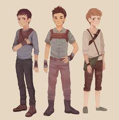 Thomas, Minho and Newt as kids