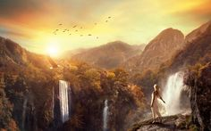 Learn how to create a surreal scene of waterfall mountains in Photoshop. In this tutorial I'll show how you can merge different stock images to accomplish a surreal and fantastic scene of waterfall mountains. You'll learn how you can create amazing lights effects, blending mountains stocks into a cohesive scene, enhancing light effects and creating …
