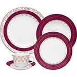 Aparelho de Jantar e Chá Flamingo Dama de Honra 30 Peças - Oxford Porcelanas
