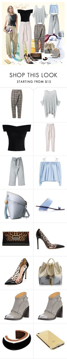 """Cool girls"" by lamipaz ❤ liked on Polyvore featuring Vivienne Westwood Anglomania, Gucci, Chicwish, 3.1 Phillip Lim, Sandy Liang, Abcense, Christian Louboutin, Gianvito Rossi, Kartell and The Office Of Angela Scott"