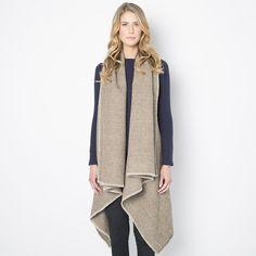 Herringbone Wool Blanket Vest