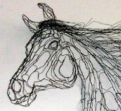 polish arab wire sculpture