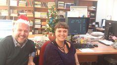 ... y llegó la Navidad al departamento de diseño gráfico de la editorial...