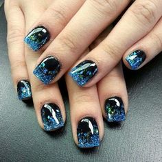 50 Stunning Acrylic Nail Ideas to Express Your Personality Acrylic manicures, dip powder nails, and gel manicures are just a few of the artificial nails designs that women love. Acrylic nails are a form of fake nails that are . Acrylic Nail Art, Acrylic Nail Designs, Nail Art Designs, Nails Design, Stylish Nails, Trendy Nails, Glitter Nails, Gel Nails, Blue Glitter