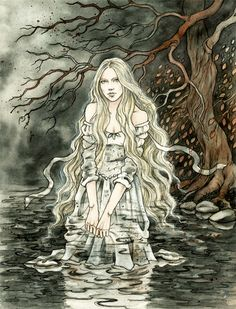 Character from Tolkien`s writings. i know, it`s not really acording to book, but i hope you like it. watercolors and ink Nimrodel Tolkien, Character Inspiration, Character Art, Images Esthétiques, Happy End, Photo D Art, Fairytale Art, Fantasy Artwork, Middle Earth