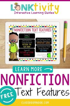 Check out this FREE new and highly engaging digital LINKtivity Interactive Learning guide for teaching nonfiction text features! The digital learning guide with companion flipbook will teach students important features found in nonfiction texts through graphics, images, and a kid-friendly video! Perfect for in-person or remote learning! Comes with a teacher guide with lesson ideas, printable or digital flipbook, rubric and MORE! Get your FREE LINKtivity digital guide now!