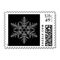 Silver Faux Glitter Snowflake Stamps