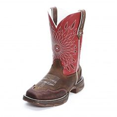 Durango Rebel Brown and Red Cowgirl Boots