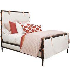 Candler Queen Bed with Slipcover from the Suzanne Kasler® collection by Hickory Chair Furniture Co.