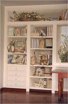 trompe loeil | Trompe loeil libreria e finestra..If only I could paint!