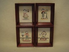 Set of 4 Antique Early 1900s Folk Art Lithographs of by TFSloan, $45.00