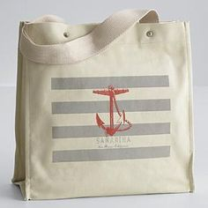 Personalized anchor tote from Red Envelope.
