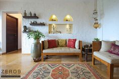 How to create an Indian interior design scheme in my home?