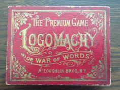 ANTIQUE-1889-PREMIUM-GAME-OF-LOGOMACHY-OR-WAR-OF-WORDS-CARD-GAME-MCLOUGHLIN