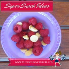A great super snack idea. www.CheerChickCharlie.com